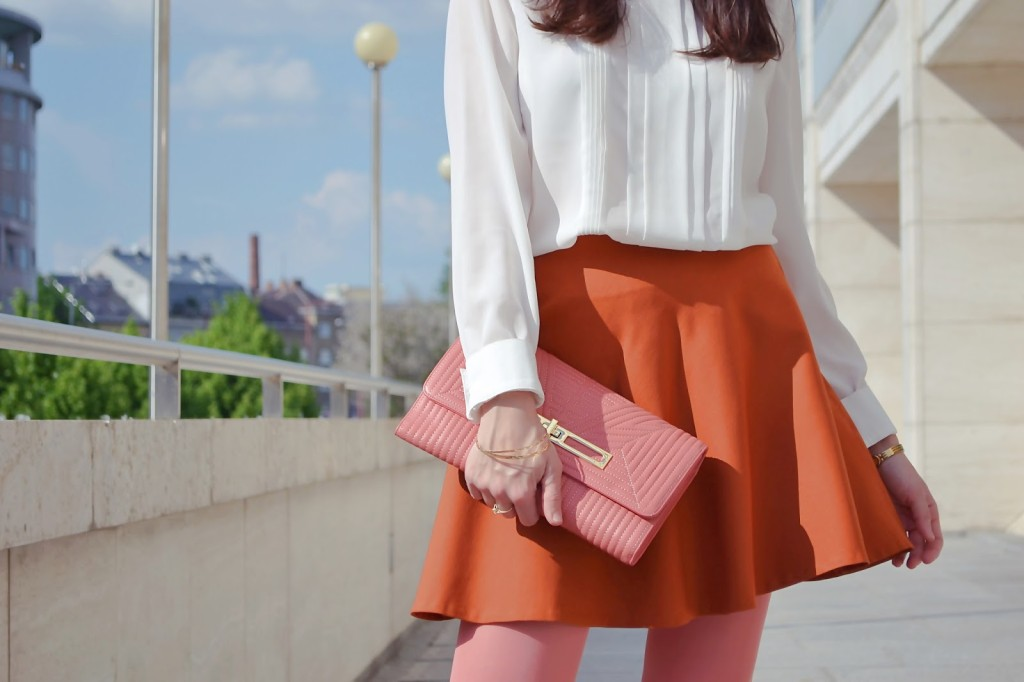 How to combine the old pink with cognac Katharine-fashion is beautiful