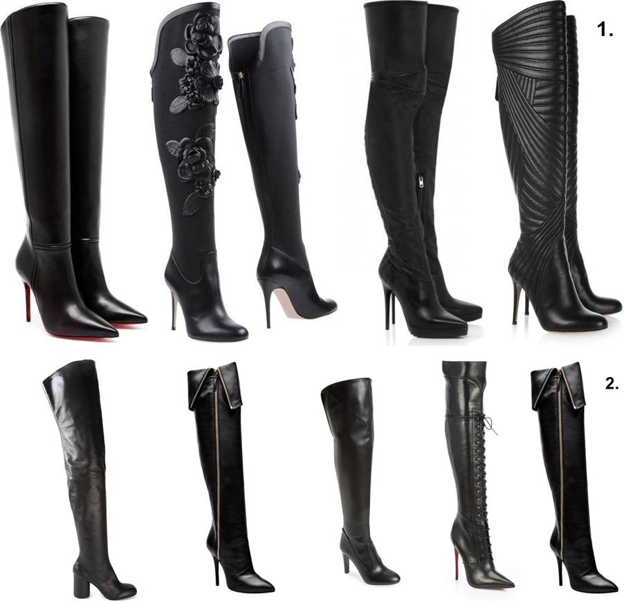 Na vysokom čierne  Over the knee boots Katharine-fashion is beautiful Čižmy  nad kolená Katarína Jakubčová Fashion blogger fdf55689052