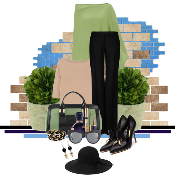 How to wear poncho_Katharine-fashion is beautiful_Pončo_Čierne nohavice_Katarína Jakubčová_Fashion blogger