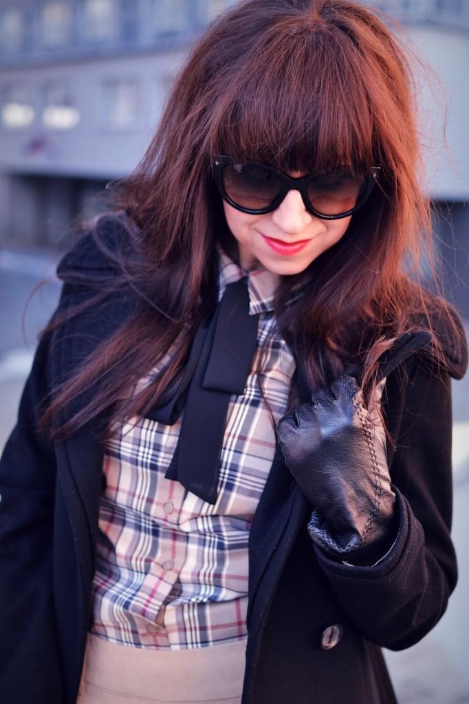 SILA OKAMIHU_Katharine-fashion is beautiful_Károvaná košeľa_Mašľa_Katarína Jakubčová_Fashion blogger