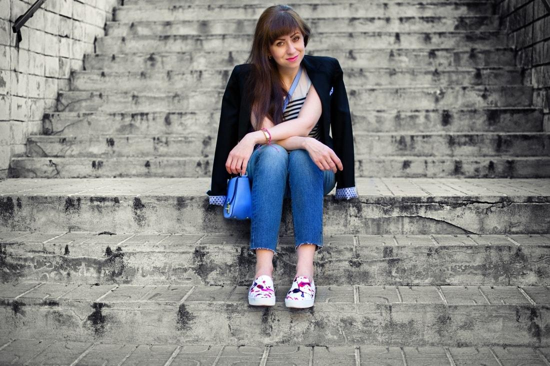 Mix vzorov_Katharine-fashion is beautiful blog 4_Levis_Pásiky_Prúžky_Dots_Bodky_Stripes_Katarína Jakubčová_Fashion blogger