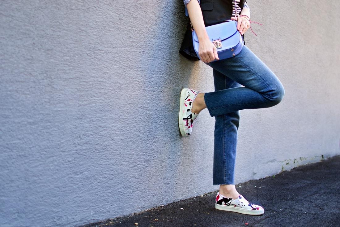 Mix vzorov_Katharine-fashion is beautiful blog 5_Levis_Pásiky_Prúžky_Dots_Bodky_Stripes_Katarína Jakubčová_Fashion blogger