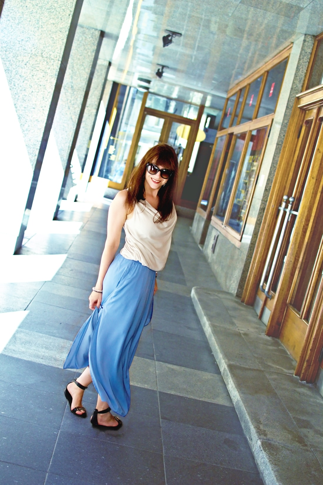 Maxi_Katharine-fashion is beautiful blog 1_modrá sukňa_Katarína Jakubčová