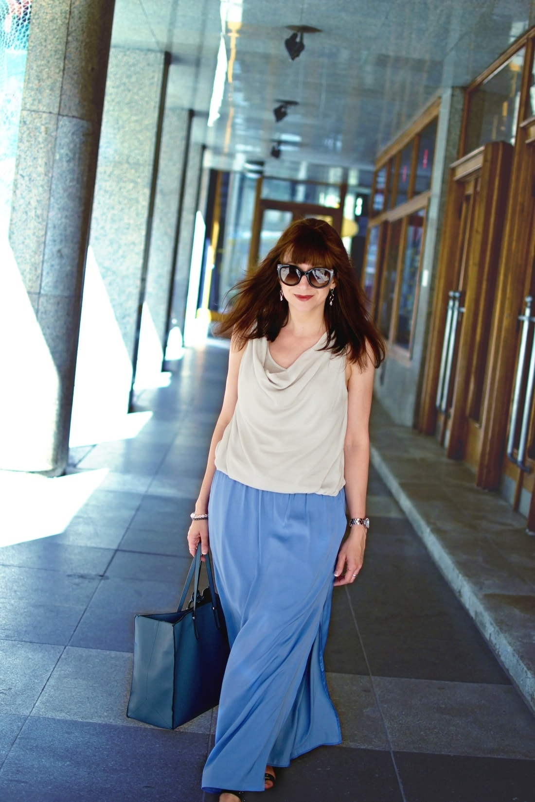 Maxi_Katharine-fashion is beautiful blog 2_modrá sukňa_Katarína Jakubčová