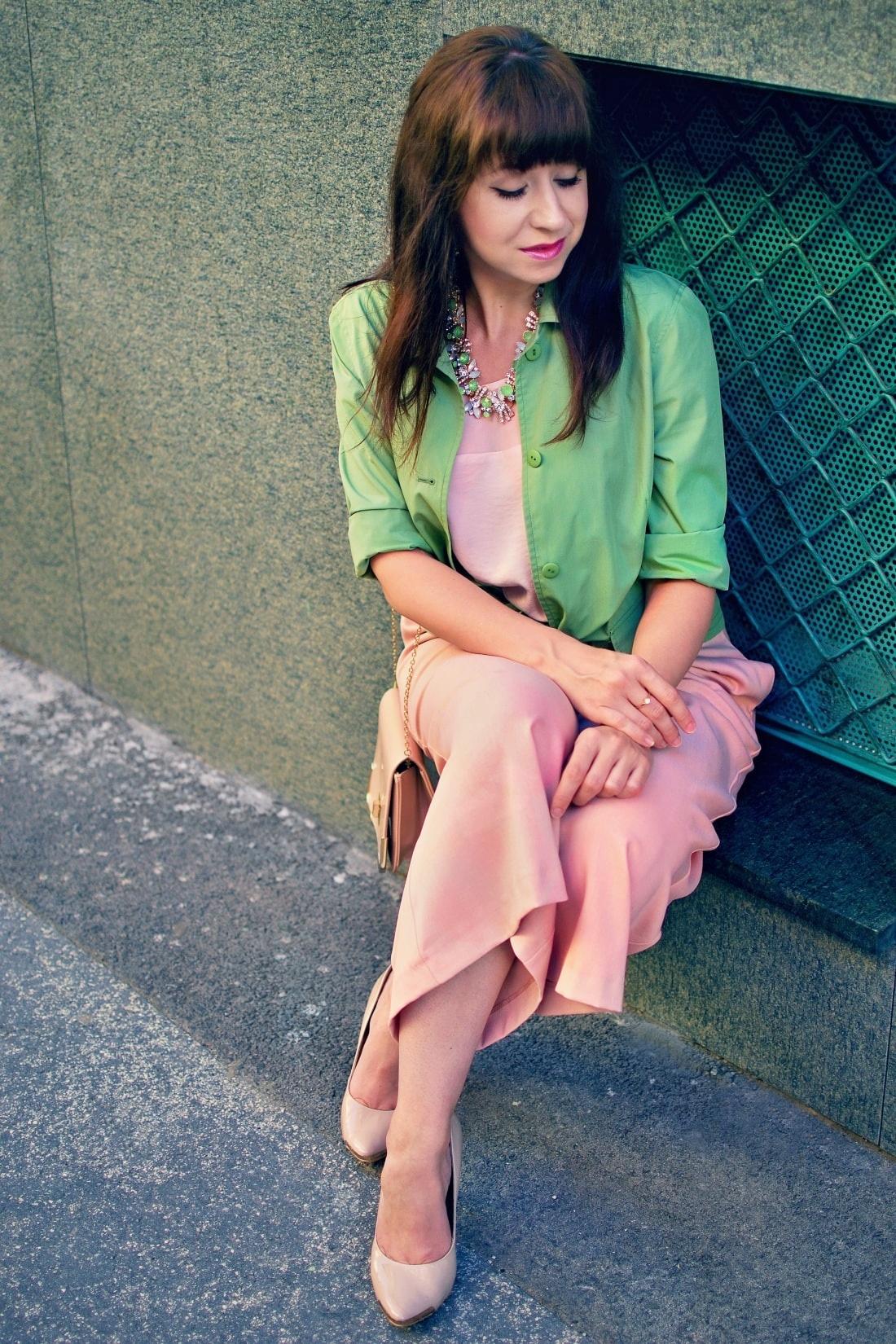 Culottes_Katharine-fashion is beautiful blog 2_Ružové nohavice_Nude lodičky_Katarína Jakubčová