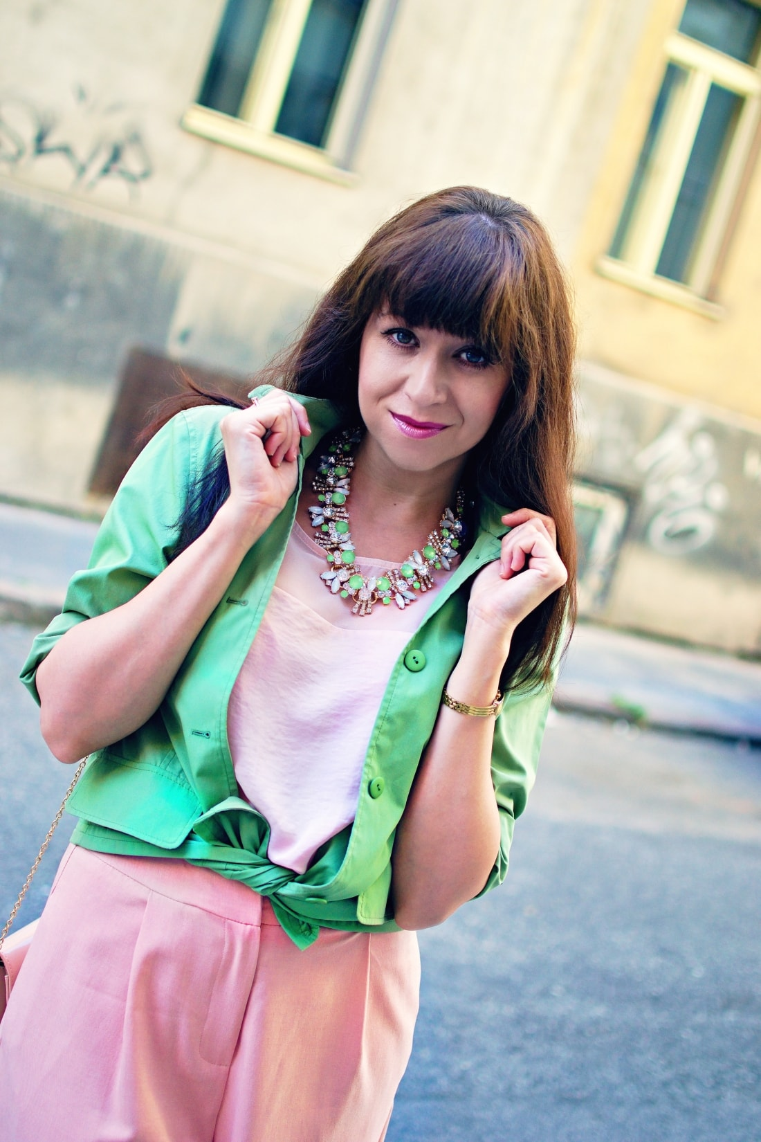 Culottes_Katharine-fashion is beautiful blog 5_Ružové nohavice_Nude lodičky_Katarína Jakubčová
