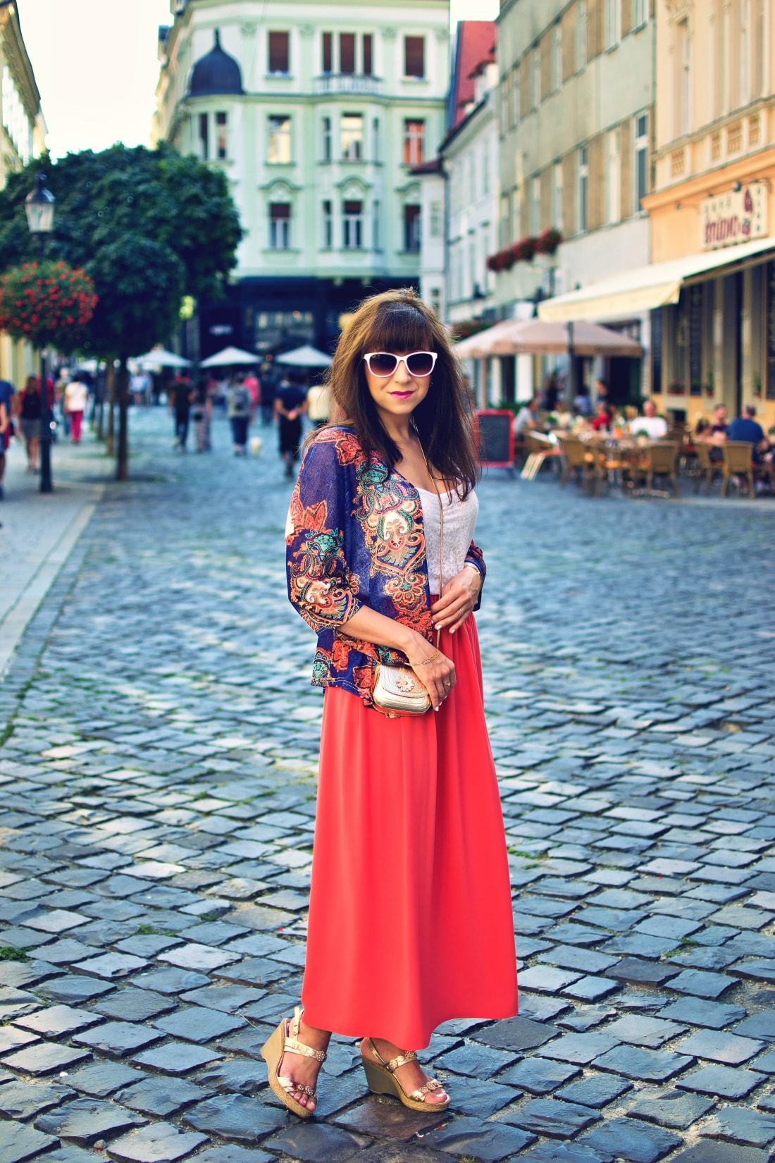 Purse jewel_Katharine fashion is beautiful blog 1_Mini bag_Kimono_Maxi_Handmade_Gold_Katarína Jakubčová_Fashion blogger