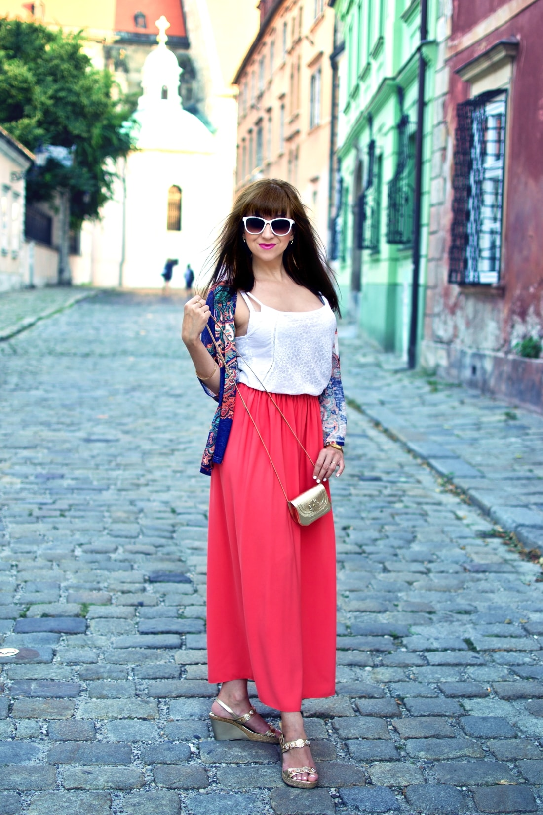Purse jewel_Katharine fashion is beautiful blog 4_Mini bag_Kimono_Maxi_Handmade_Gold_Katarína Jakubčová_Fashion blogger
