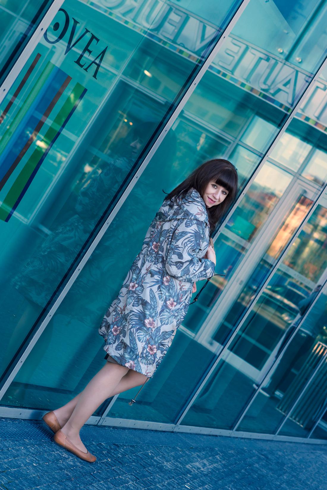 Parka s potlačou_Katharine-fashion is beautiful_Blog 4_Parka Bonprix_Listová potlač_Katarína Jakubčová_Fashion blogger