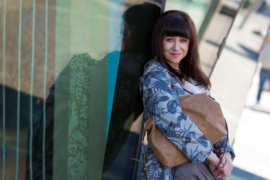 Parka s potlačou_Katharine-fashion is beautiful_Blog 5_Parka Bonprix_Listová potlač_Katarína Jakubčová_Fashion blogger