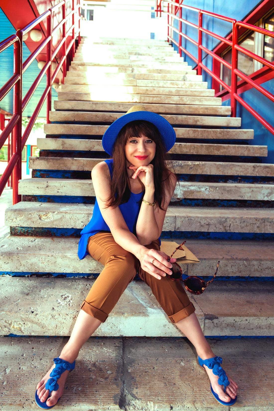 INŠPIRÁCIA NA JAR/LETO 2018 ALEBO AKO NOSIŤ KLOBÚK_Katharine-fashion is beautiful_Blog 10_Slamený klobúk Parfois_Slamená listová kabelka_OOTD_Katarína Jakubčová_Fashion blogger