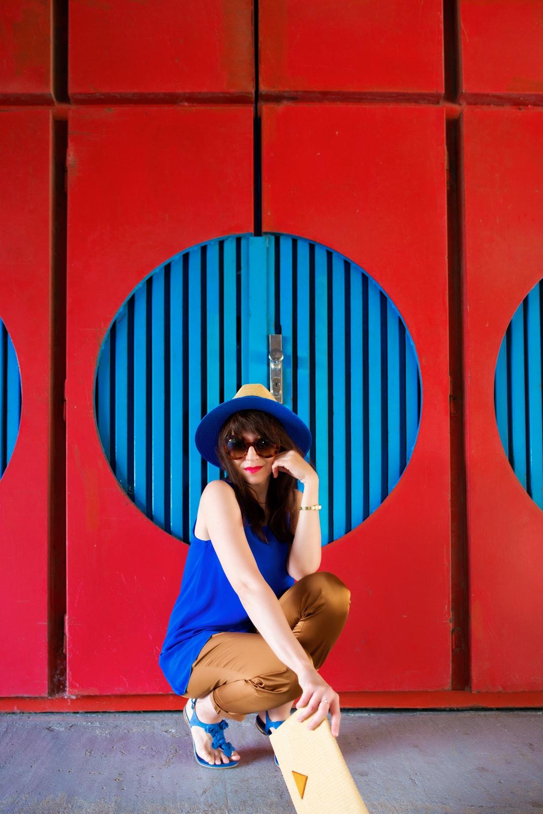 INŠPIRÁCIA NA JAR/LETO 2018 ALEBO AKO NOSIŤ KLOBÚK_Katharine-fashion is beautiful_Blog 12_Slamený klobúk Parfois_Slamená listová kabelka_OOTD_Katarína Jakubčová_Fashion blogger