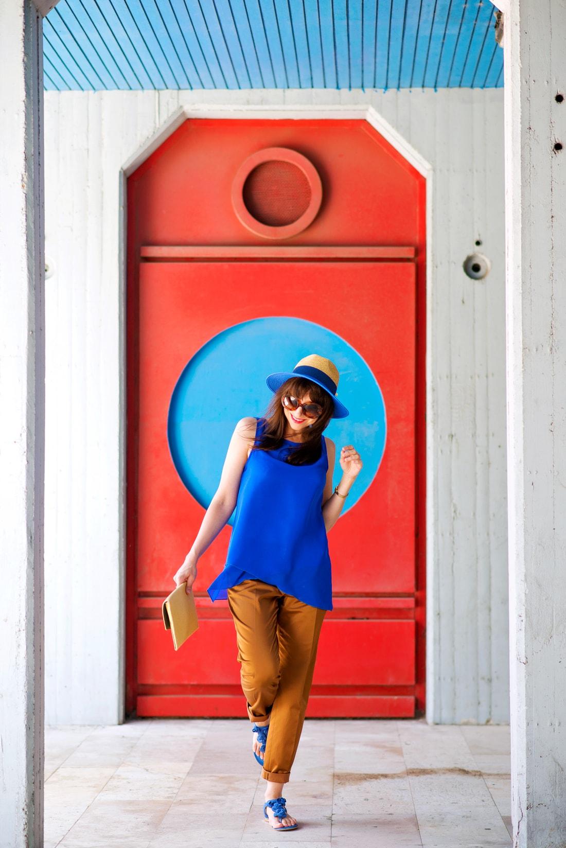 INŠPIRÁCIA NA JAR/LETO 2018 ALEBO AKO NOSIŤ KLOBÚK_Katharine-fashion is beautiful_Blog 13_Slamený klobúk Parfois_Slamená listová kabelka_OOTD_Katarína Jakubčová_Fashion blogger