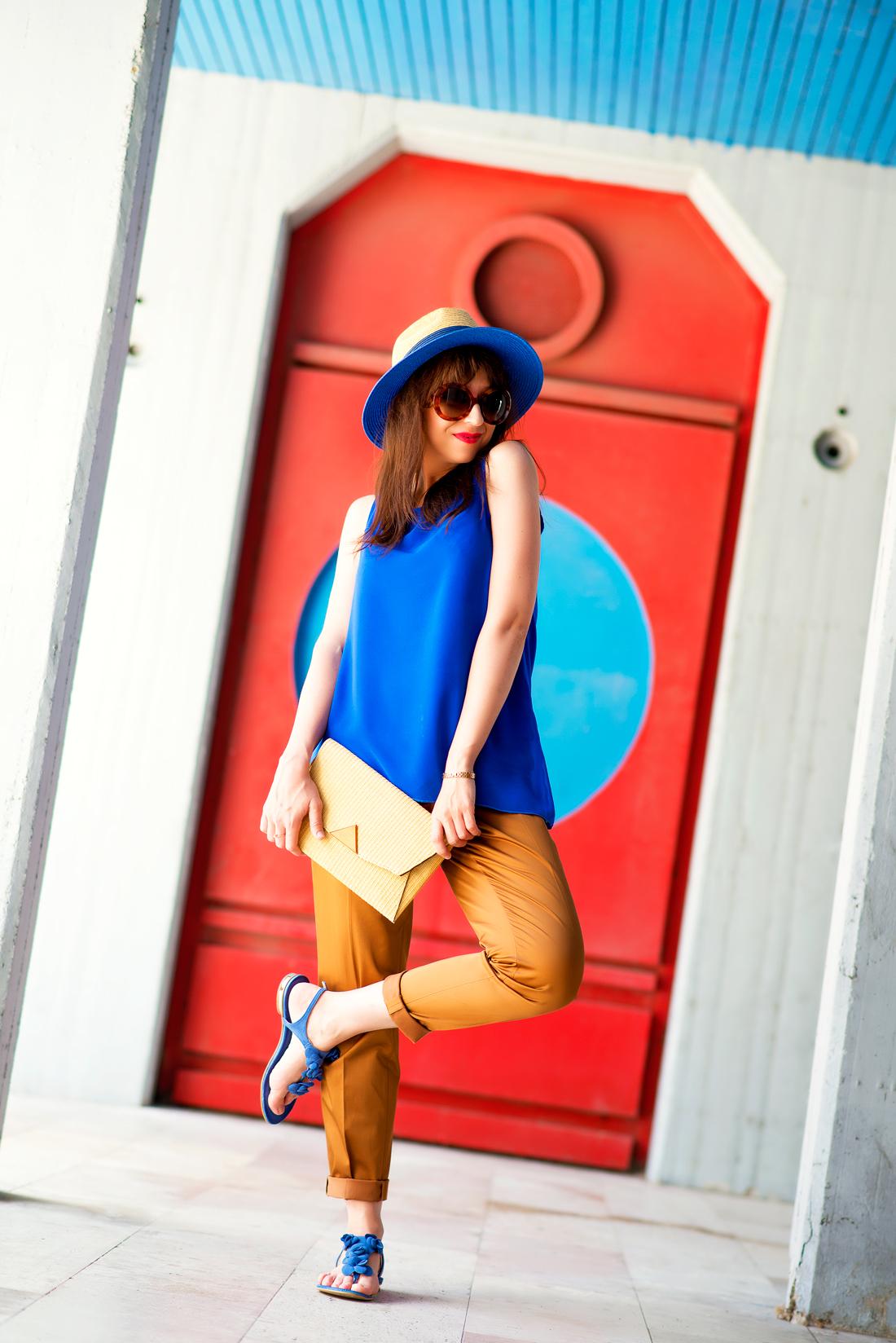 INŠPIRÁCIA NA JAR/LETO 2018 ALEBO AKO NOSIŤ KLOBÚK_Katharine-fashion is beautiful_Blog 7_Slamený klobúk Parfois_Slamená listová kabelka_OOTD_Katarína Jakubčová_Fashion blogger