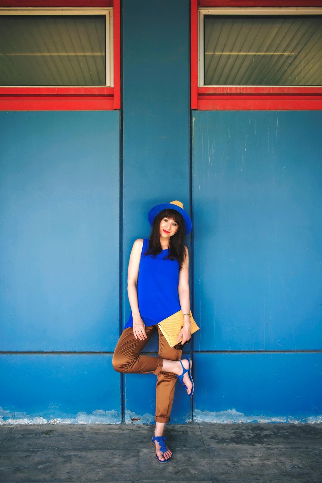 INŠPIRÁCIA NA JAR/LETO 2018 ALEBO AKO NOSIŤ KLOBÚK_Katharine-fashion is beautiful_Blog 9_Slamený klobúk Parfois_Slamená listová kabelka_OOTD_Katarína Jakubčová_Fashion blogger