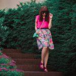 MAMA JE MAMA & KVETINOVÁ SUKŇA_Katharine-fashion is beautiful_blog 18_Kvetinová sukňa_Zelená kabelka Answear_Katarína Jakubčová_Fashion blogerka